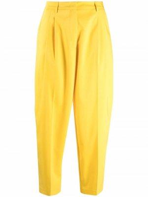 Укороченные брюки с завышенной талией Blanca Vita. Цвет: желтый