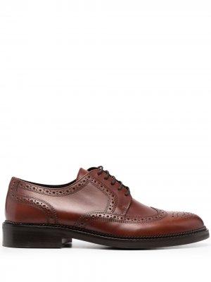 Броги на шнуровке Boss Hugo. Цвет: коричневый