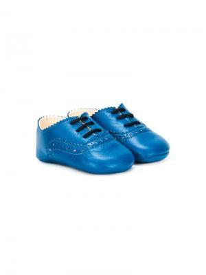 Туфли со шнуровкой Pèpè. Цвет: синий