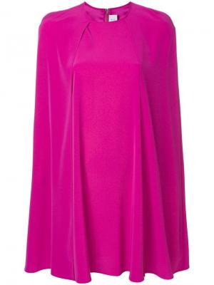 Платье с кейпом Gianluca Capannolo. Цвет: розовый
