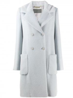 Пальто прямого кроя Alberta Ferretti. Цвет: синий