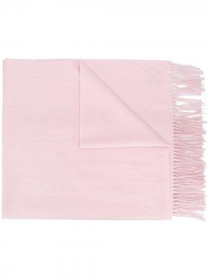Кашемировая шаль с бахромой N.Peal. Цвет: розовый