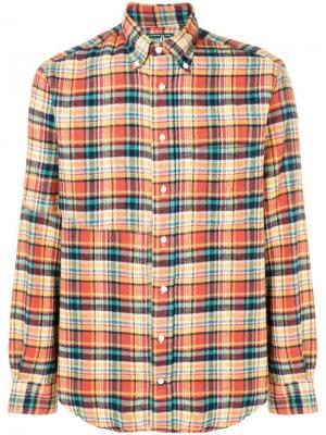 Фланелевая клетчатая рубашка Gitman Vintage. Цвет: синий