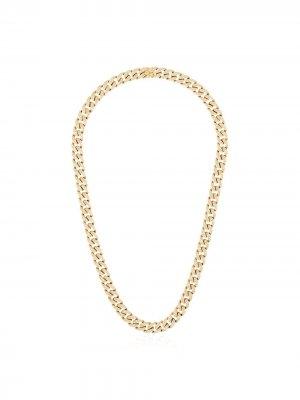 Золотая цепочка на шею с бриллиантами SHAY. Цвет: желтый