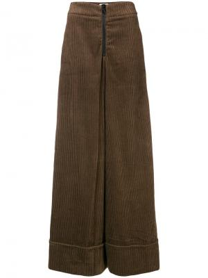 Corduroy palazzo trousers Ultràchic. Цвет: коричневый