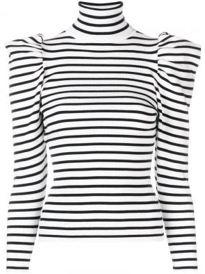 Striped puff shoulder sweater A.L.C.. Цвет: белый