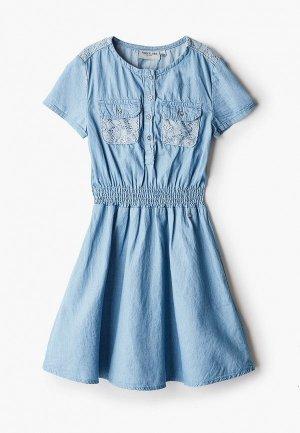 Платье джинсовое Finn Flare. Цвет: синий