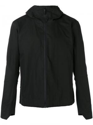 Куртка с капюшоном и манжетами геометрической формы Arcteryx Veilance Arc'teryx. Цвет: чёрный