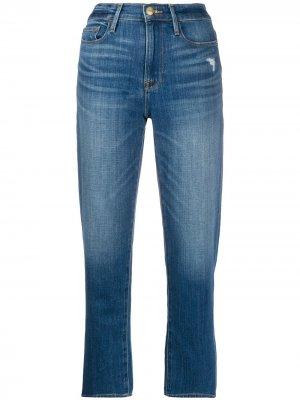 Укороченные джинсы Le Nouveau Straight FRAME. Цвет: синий