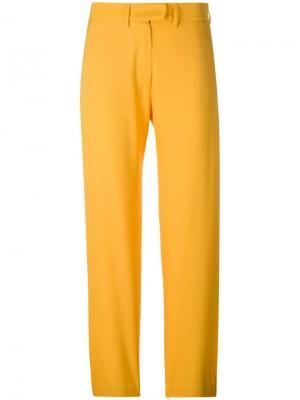 Строгие брюки House Of Holland. Цвет: желтый