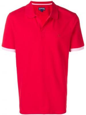 Рубашка-поло с вышитым логотипом Vilebrequin. Цвет: красный
