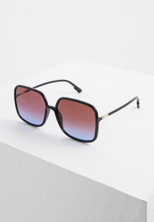 Очки солнцезащитные Christian Dior. Цвет: черный