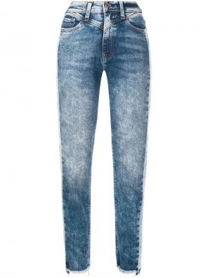 Выбеленные прямые джинсы Hudson. Цвет: синий