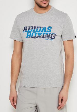 Футболка спортивная adidas Combat. Цвет: серый