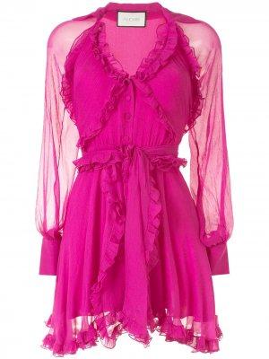 Платье с оборками Alexis. Цвет: розовый