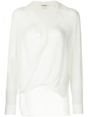 Блузка с оборкой L'agence. Цвет: белый