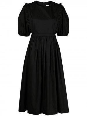 Платье миди Long Grain Sandy Liang. Цвет: черный