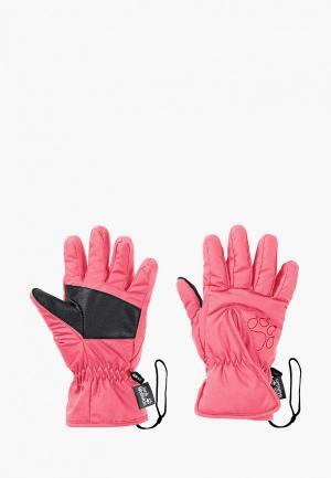 Перчатки Jack Wolfskin. Цвет: розовый