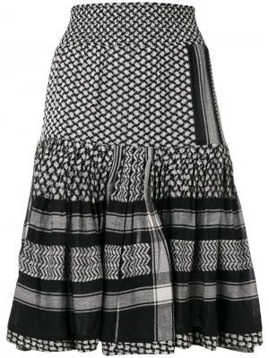 Расклешенная юбка миди Cecilie Copenhagen. Цвет: черный