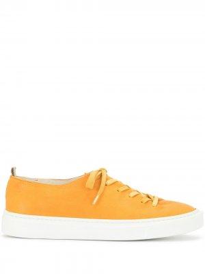 Кеды на шнуровке Officine Creative. Цвет: желтый