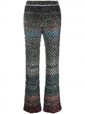 Расклешенные трикотажные брюки Missoni. Цвет: черный