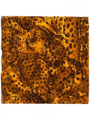 Платок с принтом Yves Saint Laurent Pre-Owned. Цвет: коричневый