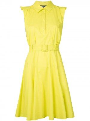Платье-рубашка без рукавов Paule Ka. Цвет: желтый