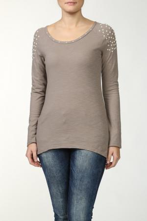 Блузка Fullah Sugah. Цвет: коричневый