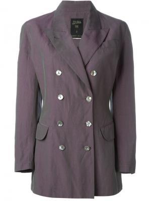 Двубортный пиджак Jean Paul Gaultier Pre-Owned. Цвет: розовый
