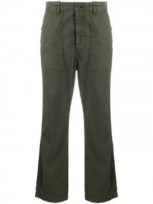 Прямые брюки с завышенной талией Ba&Sh. Цвет: зеленый