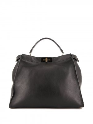 Большая сумка-тоут Peekaboo Fendi Pre-Owned. Цвет: черный