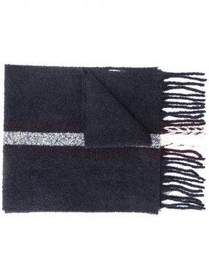 Широкий трикотажный шарф Eleventy. Цвет: синий