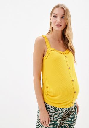 Топ Dorothy Perkins Maternity. Цвет: желтый