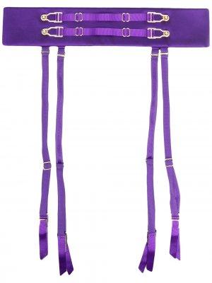 Пояс с подвязками Murmur. Цвет: фиолетовый