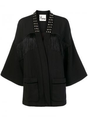 Fringed coat 8pm. Цвет: черный