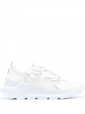 Кроссовки на шнуровке D.A.T.E.. Цвет: белый