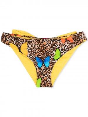 Трусы-брифы Madame с леопардовым принтом Mc2 Saint Barth Kids. Цвет: нейтральные цвета