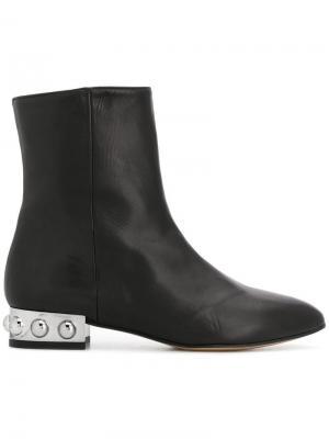 Embellished heel boots Marc Ellis. Цвет: черный