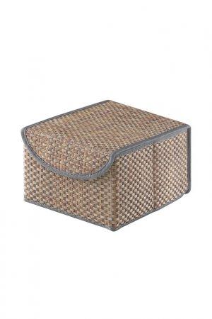 Коробка для хранения с крышкой CASY HOME. Цвет: коричневый