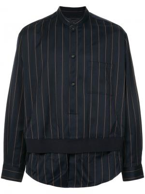 Двухслойная рубашка Wooyoungmi. Цвет: синий