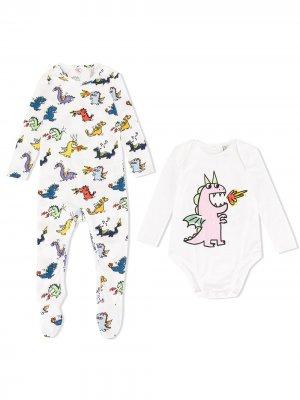 Комплект для новорожденного с принтом Stella McCartney Kids. Цвет: белый