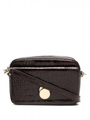 Каркасная сумка Karlie с тиснением под крокодила Tila March. Цвет: коричневый
