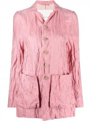 Куртка с жатым эффектом Toogood. Цвет: розовый