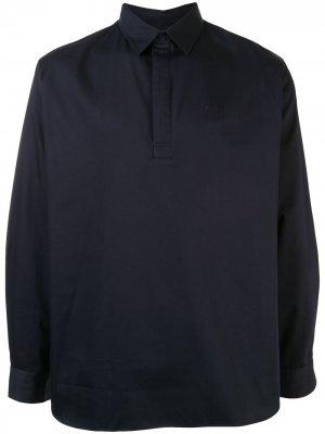 Рубашка поло с длинными рукавами и вышивкой Tiger Kenzo. Цвет: синий