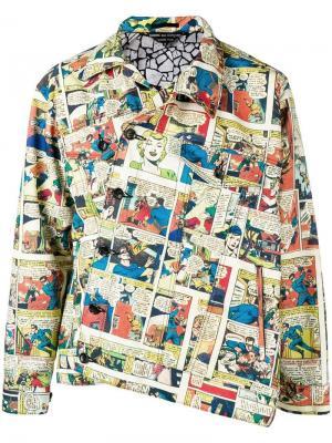 Куртка на пуговицах в стиле поп-арт Comme Des Garçons Homme Plus. Цвет: желтый