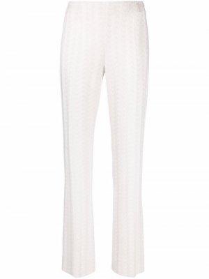 Расклешенные брюки тонкой вязки Missoni. Цвет: белый