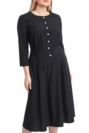 Платье LACY. Цвет: черный