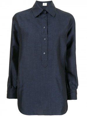 Рубашка с короткой планкой Colombo. Цвет: синий
