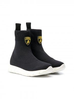 Кроссовки-носки Lamborghini Bumper. Цвет: черный