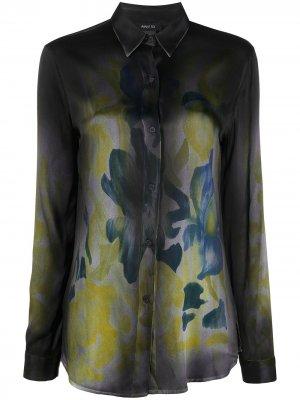 Рубашка с цветочным принтом Avant Toi. Цвет: синий
